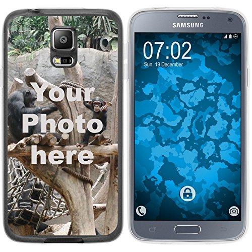 PhoneNatic Case kompatibel mit Galaxy S5 Neo Personalisierte Handyhülle Clear zum selbst gestalten mit eigenem Foto