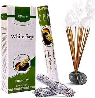 ARO VATIKA Natural White Sage Masala Hexa Incense Sticks 6 Pack of 120 Sticks