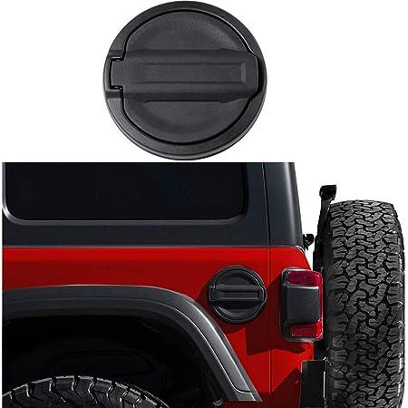 JeCar Gas Tank Cap Aluminum Fuel Filler Door Cover for Jeep Wrangler 2018-2021 JL & Unlimited