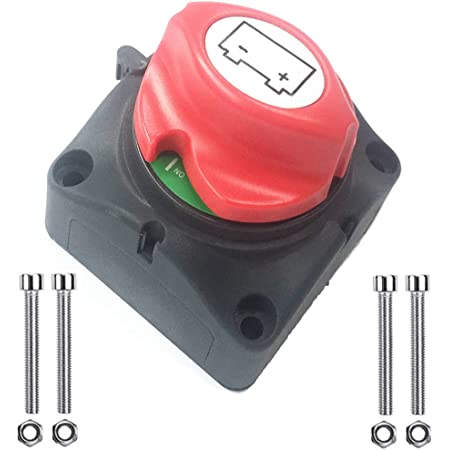 Qiorange Auto Kfz Lkw Pkw 12v 24v Negativer Pol Batterietrennschalter Hauptstromschalter Batterieadapter Für 15 17mm Type F 1 Stück Auto