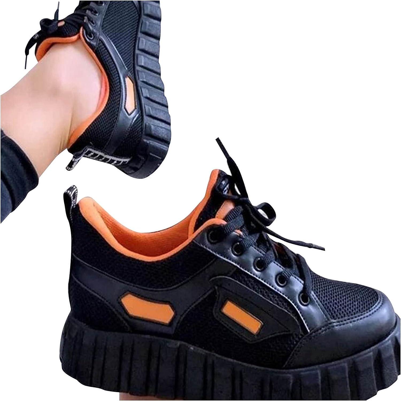 Women's Fashion Sports Platform Flat-Bottom Lace Ranking TOP17 Color up Shoes favorite