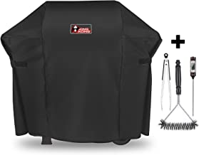 Kingkong 7138 Premium Grill Cover for Weber Spirit 200 and Spirit II 200 Series Gas Grills (Compared to 7138) Including Brush, Tongs and Thermometer