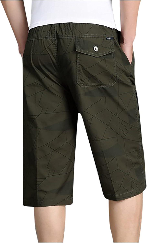 Men's Summer Casual Short Knee Length Pant 3/4 Capri Pants Cargo Shorts Summer Casual Fitness Sports Shorts Pants