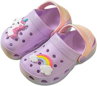 Toddler Little Kids Unicorn Clogs Cute Cartoon Boys Girls Garden Clogs,Toddlers Non-Slip Breathable Slides Sandals, Childr...