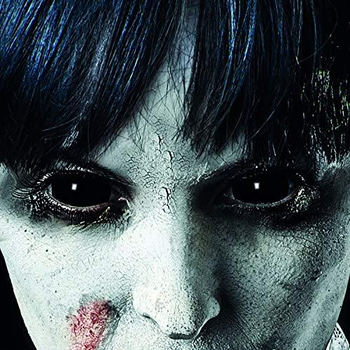 Funlinsen Black Sclera-Markenqualität- 1 PAAR-D-22mm-schwarze Linsen,Cosplay, Larp, Zombie Kontaktlinsen, Crazy Funlinsen, Halloween, Fastnacht,Vampir - 2