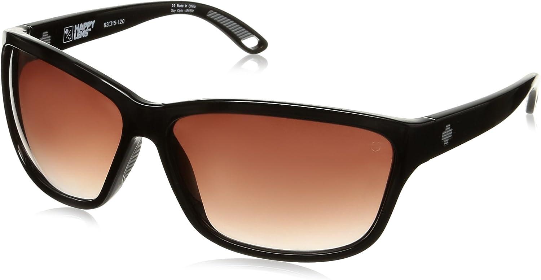 Spy Optic Women's Allure 673249038357 Oval Sunglasses, Black Happy Merlot Fade, 63 mm