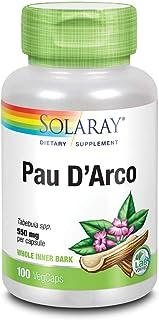 Solaray PAU D'arco Inner Bark Capsules, 510 mg | 33 Servings, 100 Count