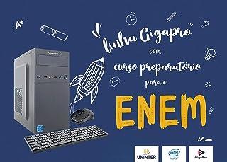 PC DESKTOP ENEM CELERON DUAL CORE 4GB SSD240GB WIN 10 C/MOUSE E TECLADO COM FIO E MOUSE PAD 30x20cm, COM CURSO PREPARATÓRI...