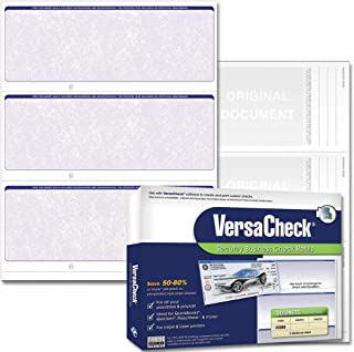 VersaCheck Security Business Check Refills: Form #3000 Business Standard - Blue - Classic - 250 Sheets