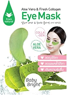 Eye Mask with Aloe Vera & Fresh Collagen, Wrinkles, Dark Circles, Puffiness & Bags - 100% Natural Anti Aging, hydrate & moisturize your skin, For Men & Women, (Pack of 6)