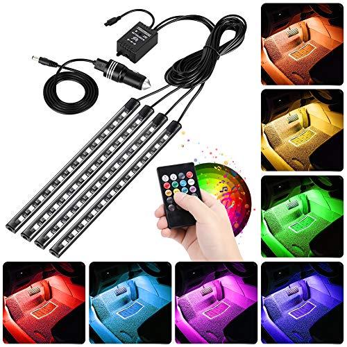 ledテープライト EECOO イルミネーション 車用 車テープライト USB式 車内装飾用 足下照明 48LED 高輝度 4...