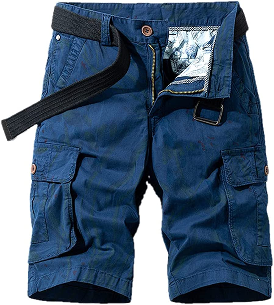 NP Men Camouflage Shorts High Cotton Shorts Multi-Pocket Overalls Sports