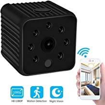 GXSLKWL Spy Hidden Camera 1080P Portable Small Camera with Night Vision Nanny Cam Activity Detection Alert and Motion Dete...