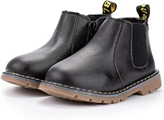 Meckior Save Beautiful Baby Kids Boots Girl Boy Shoes Rain Hiking Winter Snow Booties (5, A03/black)