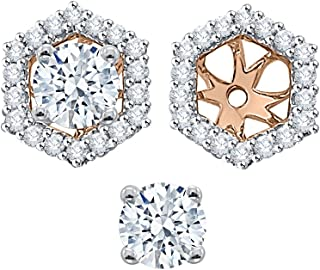 76eee6c31 KATARINA Diamond Earring Jackets in Gold or Silver (1/2 cttw, G-H,
