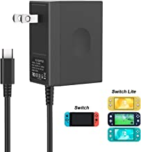 YCCSKY Charger for Nintendo Switch Lite, [Latest Version] Switch Lite Charger AC Adapter 5V/2.6A Fast Charging Replacement for Nintendo Switch Lite and Nintendo Switch (Support TV Mode)
