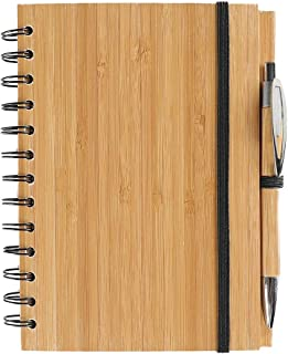 Spiral Notebook Bamboo Notebooks/Journals with Pen for Journaling Writing Note Taking Diary and Planner ,Bamboo Notepad, 7...