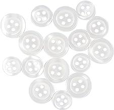 "100 Pieces White 2 hole 7//16/"" X 3//8/"" Decorative Heart Buttons"