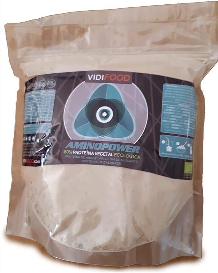 Proteína Aminopower ECO en Polvo | 1kg | Mix Proteínas de Arroz, Guisante y Calabaza | Aumento Masa Muscular y Energía | 80% Proteína y Aminoácidos | ...