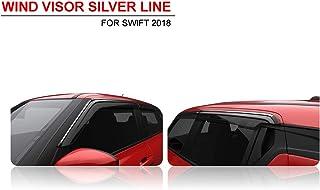 Sepia Silver Line Door Visor for Swift 2018 (Set of 4)