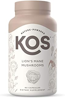 Sponsored Ad - KOS Organic Lions Mane Mushroom Capsules 1500mg - Natural Nootropic, Supports Memory & Focus, Immunity Boos...
