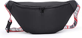 Black Waist Pack -All-Purpose/Lightweight Holographic Waist Purse for Both Men And Women, AdjustableBelt for Carnival Holi...