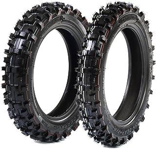 Protrax Offroad Mini Pit Bike Front 2.50-10 & Rear 2.75-10 Tire Combo - Durable - Aggressive - Lessons Mud Buildup- Mini Dirtbike/Motocross