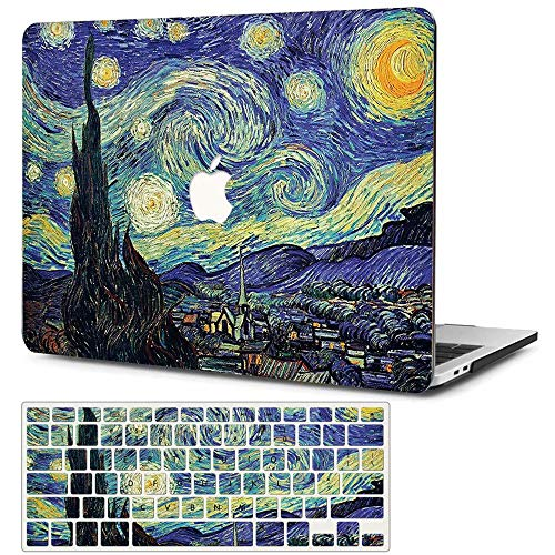 CIAOYE Hard Plastic MacBook Pro 13 inch 2020 Release A2251/A2289 Protective Cover with Keyboard Cover for Pro 13 Inch with Touch Bar 2020 Release, Starry Sky