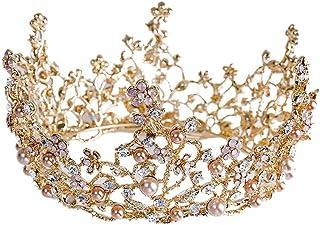 ZJ-Crown Bijoux de mari/ée Robe Accessoires de Mariage Couronne r/étro Baroque Couronne europ/éennes et am/éricaines Queens Dance Headwear Bandeau