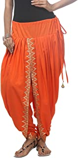 NIKA Women's Cotton Salwar Suit (KNA-12971_Free Size_Orange)