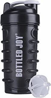 BOTTLED JOY Water Bottle, Protein Shaker Bottle with Mixer Ball BPA Free Plastic Sports Water Bottle Leakproof Shaker Cup for Fitness Sports and Travel Non-Slip Mix Drinking Bottle 22oz / 650ml