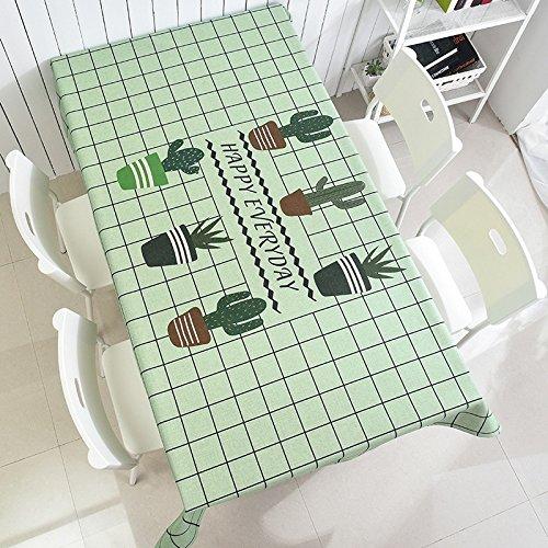 WEN-Nappes Nappe Antipoussière Nordic Simplicité Nappe Multi-usages Coton Tissu Famille Table À Manger Comptoir TV Thé Couverture De Table Tissu (Couleur : E, taille : 140 * 180cm/55.1 * 70.9in)