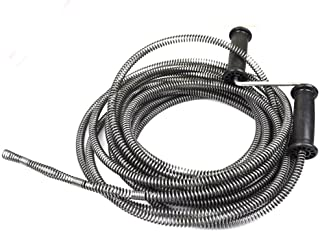 NUZAMAS Drain Cleaner Augers Spring Cable 5M (16ft) 13mm for Household Kitchen Bathroom Toilet Plumber Plumbing Snake Pipe...
