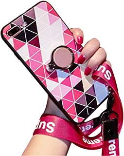 BONTOUJOUR iPhone XS Max Case, Fashion Luxury Geometry Phone Case for Girls, Geometric Pattern TPU Case with Back Phone Ring Holder and Wristband,Compatible with Magnetic Car Mount- Geometry 5