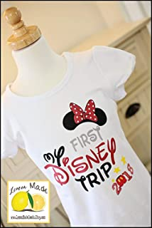 My First Disney Trip shirt for girl with year