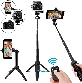 Selfie Stick,40 Inch Extendable Selfie Stick Tripod and Phone Tripod Stand with..