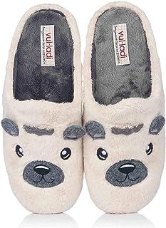 Vul-ladi Chaussures de Maison Type Botte