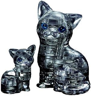 Original 3D Crystal Puzzle - Cat & Kitten Black