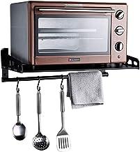 WZF Grilles de Four /à Micro-Ondes /• Plateaux de Four muraux /• Supports de Rangement pour Cuisine Domestique avec 6 Crochets