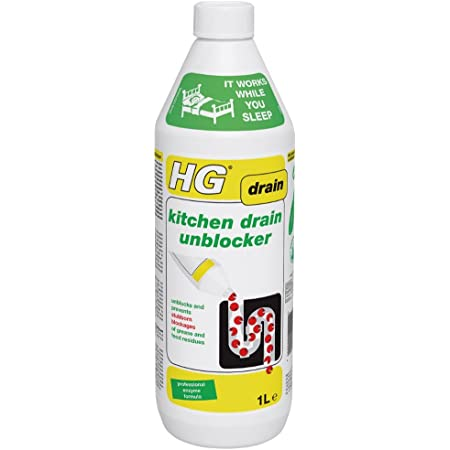 HG 481100106 Kitchen Drain 1L-Effective and Natural Sink Unblocker-for Persistent Blockages, Multi