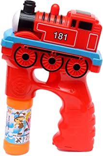 BRIGHT LINE Bubble Gun Leak-Proof Bubble Machine Gun for Kids with Music and Light, Bubble Gun Blower with 2 Bottles Bubbl...