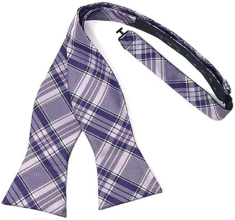 Madison Plaid Self Tie Bow Tie