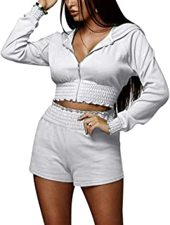 IyMoo Womans Bodycon Jumpsuit Full Bodysuit - Sexy One Piece Romper Outfits Long Sleeve High Waisted Pants