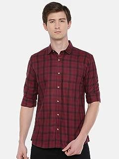 Chennis Men's Maroon Casual Shirt