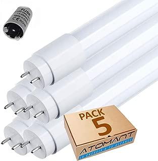 Pack 5x Tubo LED 360 grados 60 cm. Color blanco frío (6500K