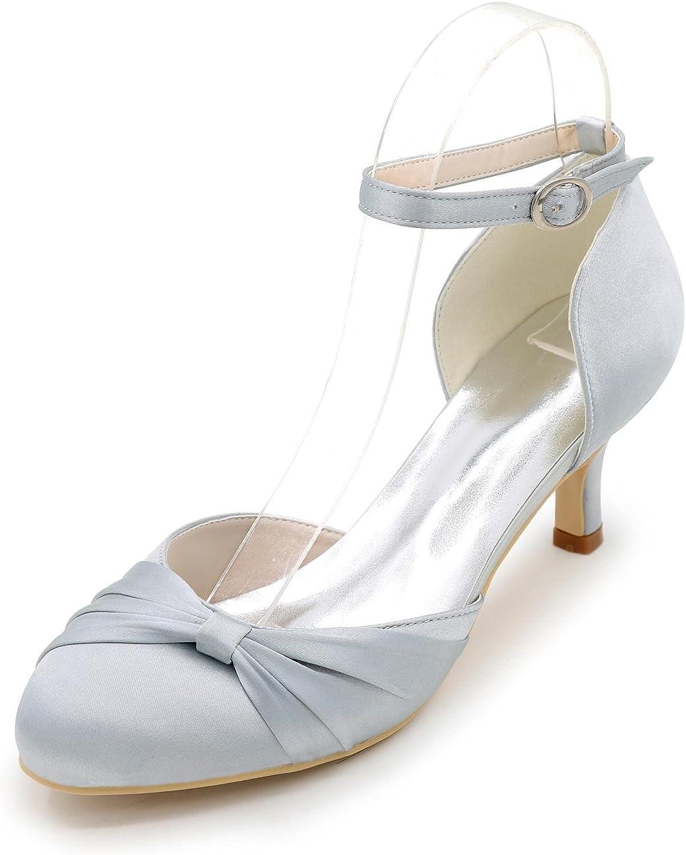 L@YC Frauen High Heels Seide und Spitz Spitz Spitz High Heels Hochzeit Büro und Profi Freizeit Lila Blau   Rot Silber   Weiß Blau  6b8719