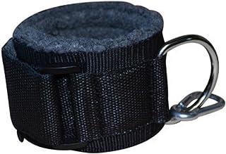 comprar comparacion Grofitness - Correas de tobillo acolchadas con anilla de metal en D y gancho para poder engancharlas a una máquina de musc...