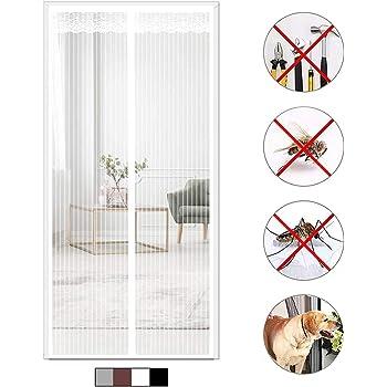 GOUDU Mosquitera Puerta Magnetica, 110x230cm Mosquiteras para Puertas Magnética Automático Verano Cortina magnética para Puertas Correderas/Balcones/Terraza, Blanco: Amazon.es: Hogar