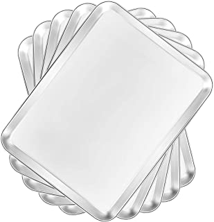 Baking Sheet 5 Pieces, Bastwe Professional Bakeware Stainless Steel Cookie Sheet Set of 5, Rectangle Size 9 X 7 X 1 inch, Healthy & Non Toxic, Rust Free & Mirror Finish, Easy Clean & Dishwasher Safe