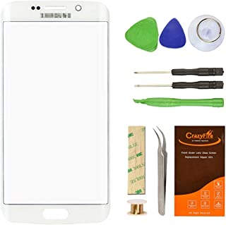 For Samsung Galaxy S6 edge Plus Front Outer Lens Glass Screen Replacement,CrazyFire Repair Kit With Adhesive Tape+Tools Kit+1 Pair Tweezers+1 Roll Micro Wire For S6 edge Plus G928F G928T G928P G928V